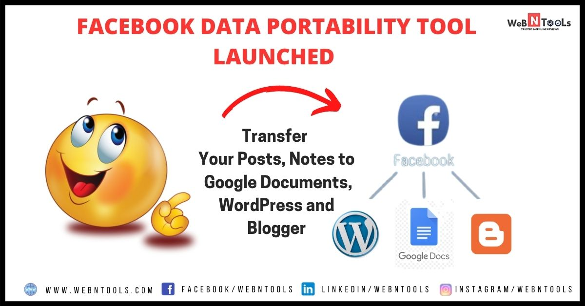 Facebook Data Portability Tool - Transfer Your Posts, Notes to Google Documents, WordPress and Blogger