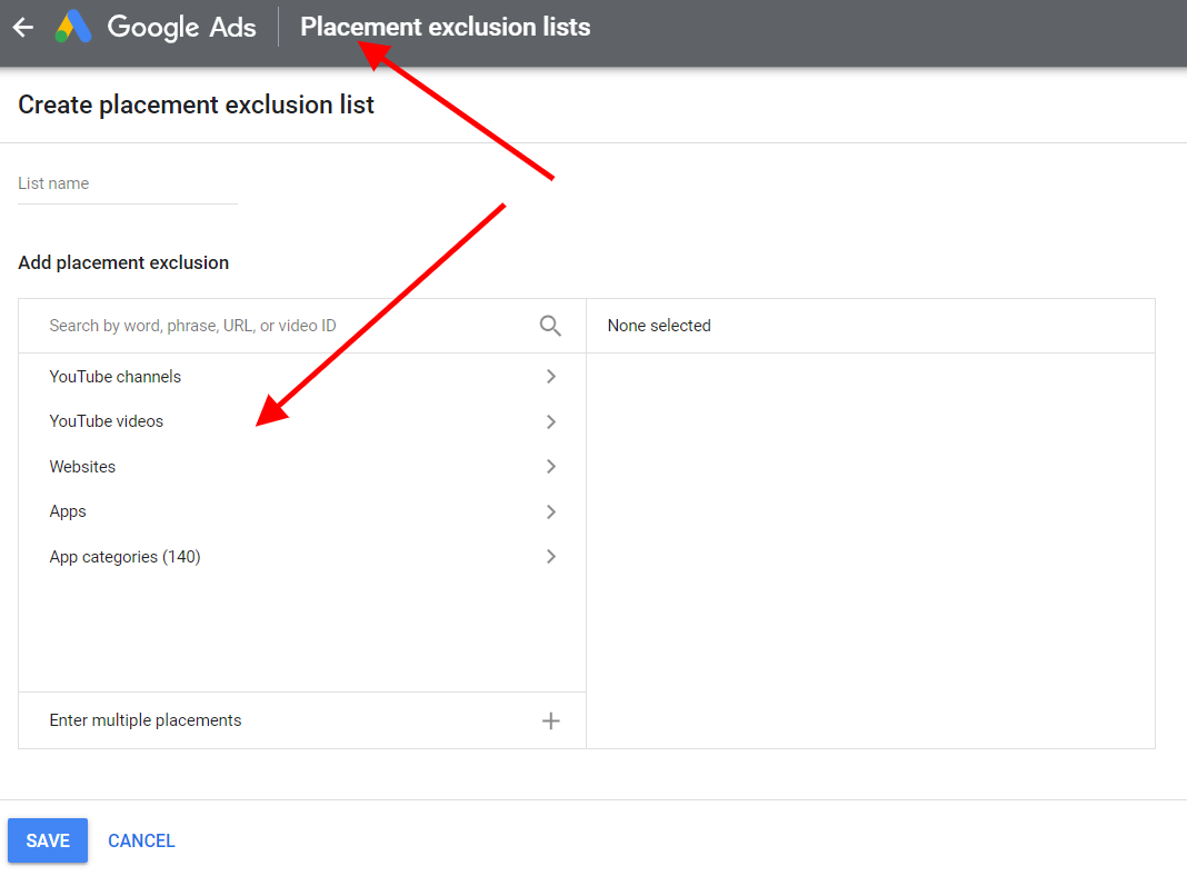 Google Ads Dynamic Exclusion Lists