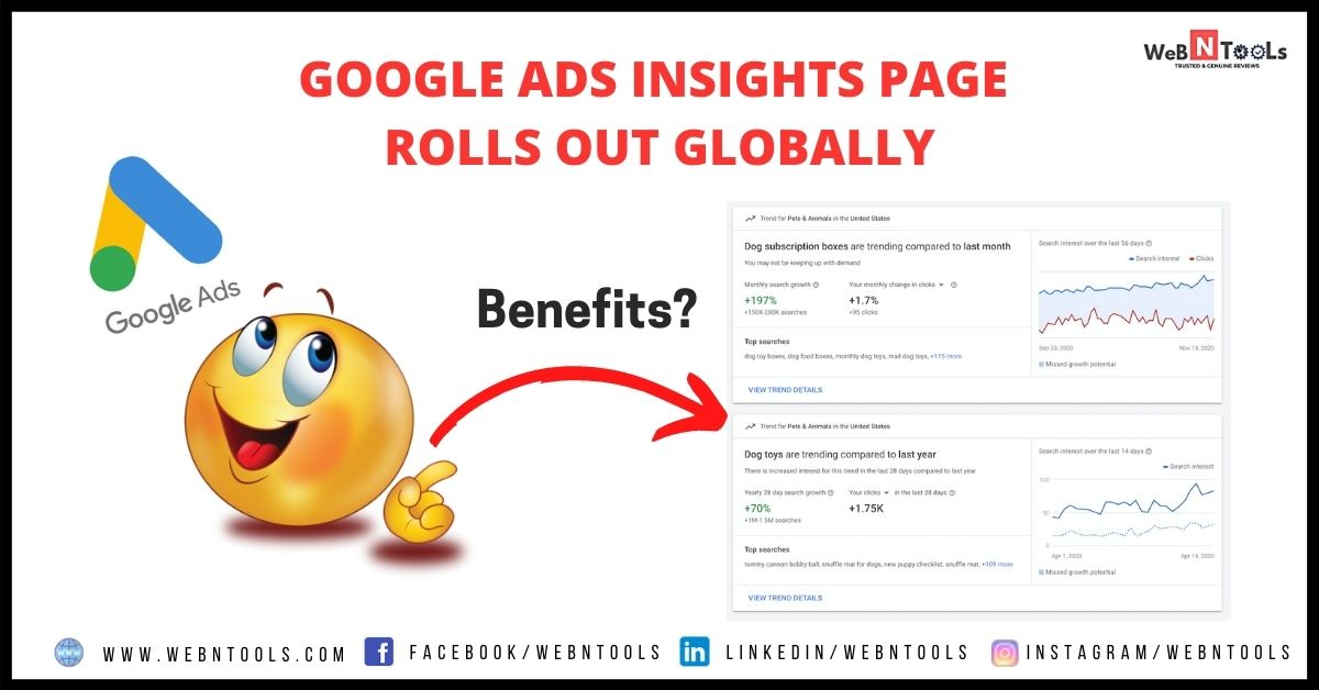Google Ads Insight Page rolls out globally april 2021
