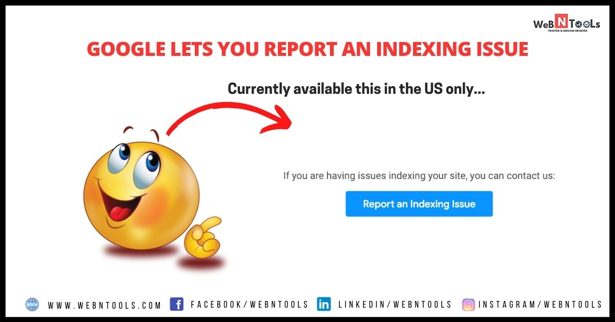 Report Google Indexing Issue - April 2021 Update