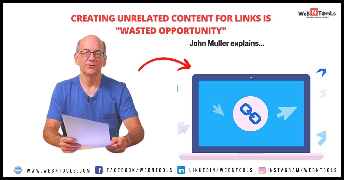 """Creating Unrelated Content For Links is """"Wasted Opportunity"""""""