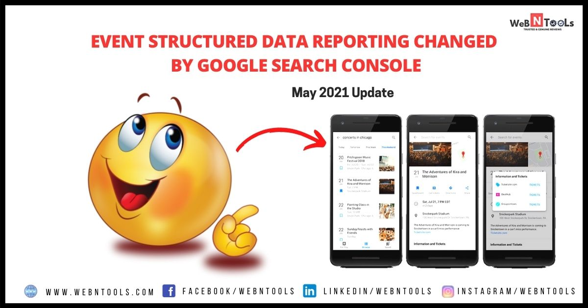 Event Structured Data Reporting Changed By Google Search Console - May 2021 Update