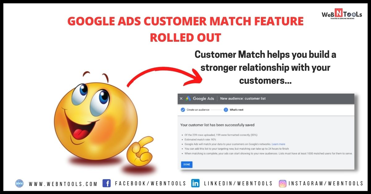 Google Ads Customer Match Feature Rolled Out - May 2021 Update