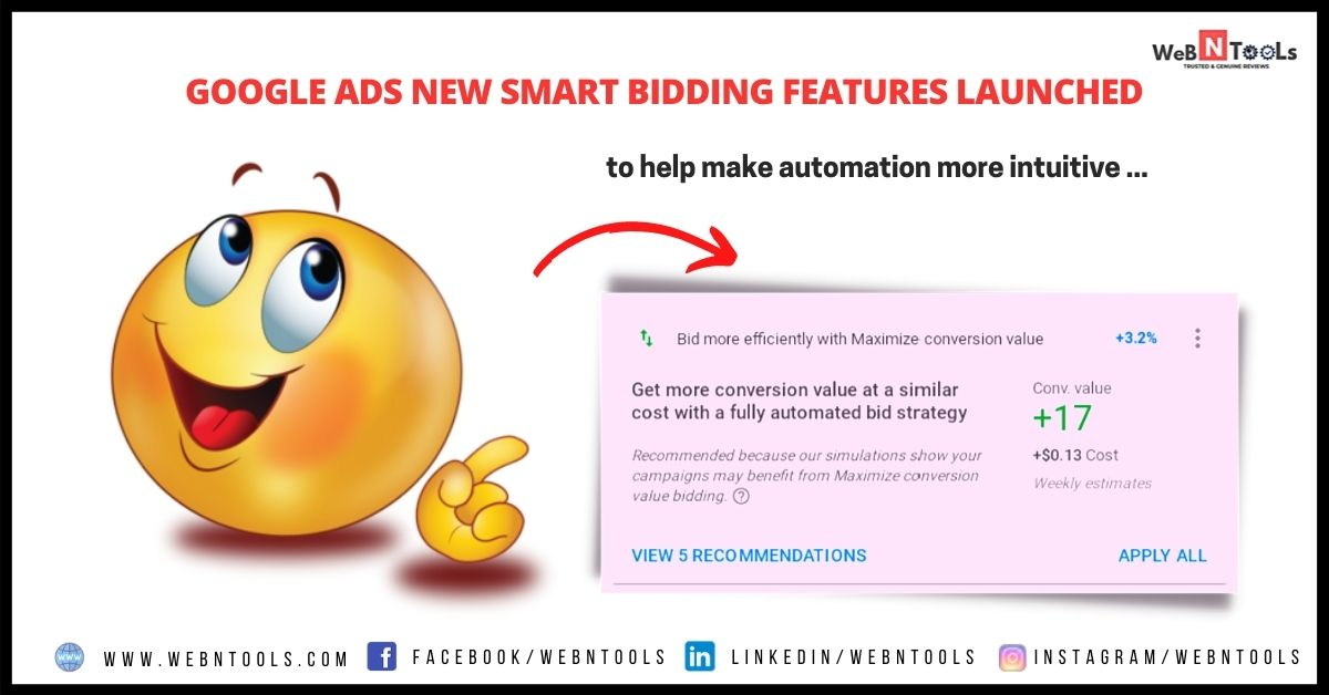 Google Ads New Smart Bidding Features Launched - May 2021 Updates