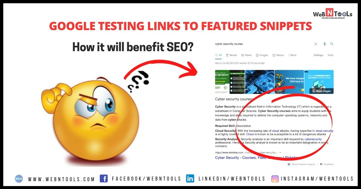 Google Testing Links To Featured Snippets - May 2021 Update