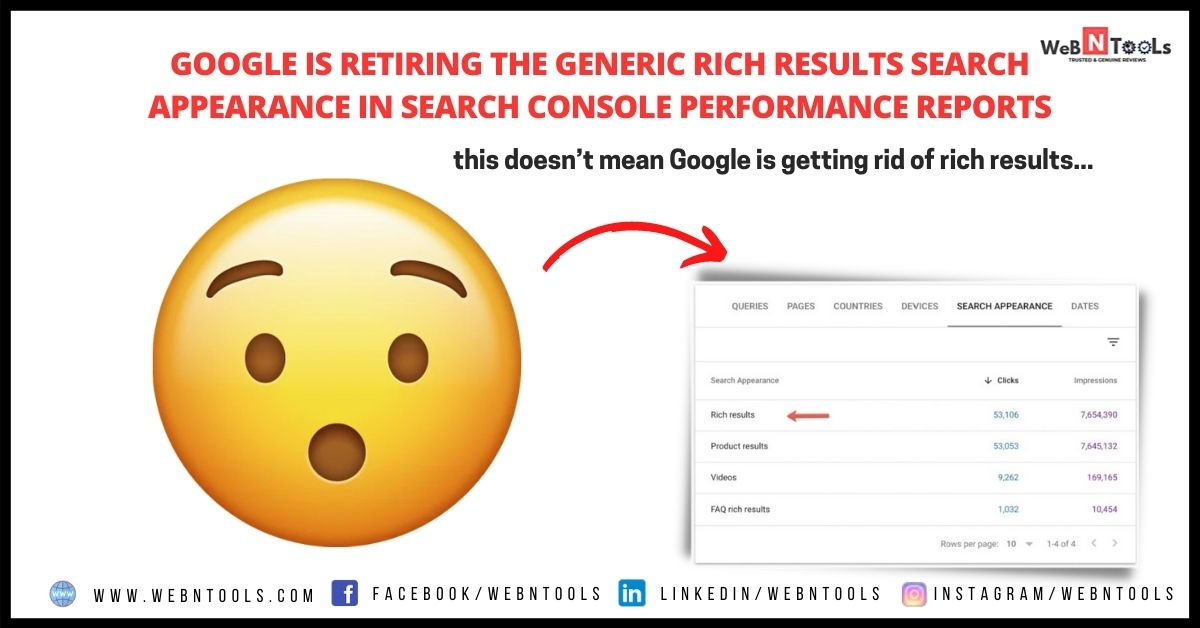 Google is Retiring the Generic Rich Results Search Appearance in Search Console Performance Reports