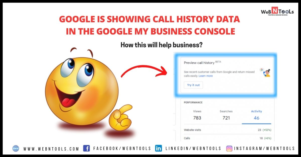Google is Showing Call History Data in the Google My Business Console