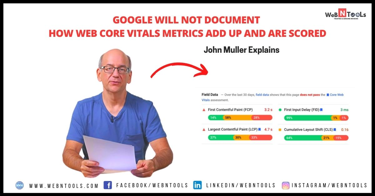 Google will not document how Web Core Vitals metrics add up and are scored - May 2021 Update