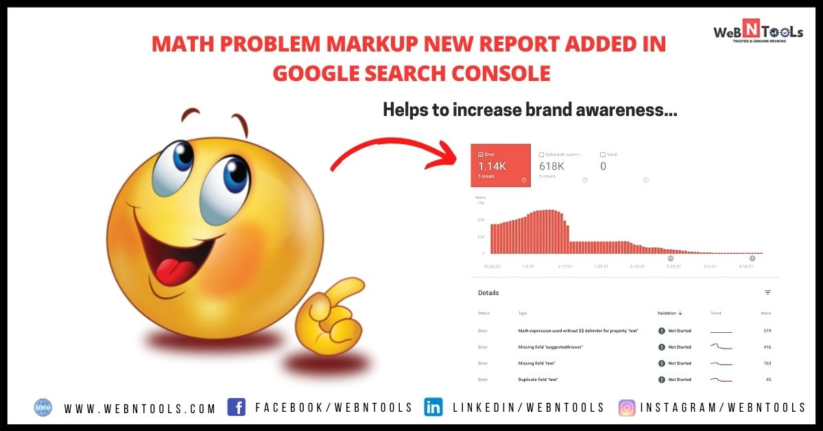 Math Problem Markup New Report Added in Google Search Console - May 2021 Update