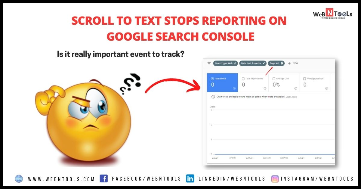 Scroll To Text Stops Reporting On Google Search Console - May 2021 Update