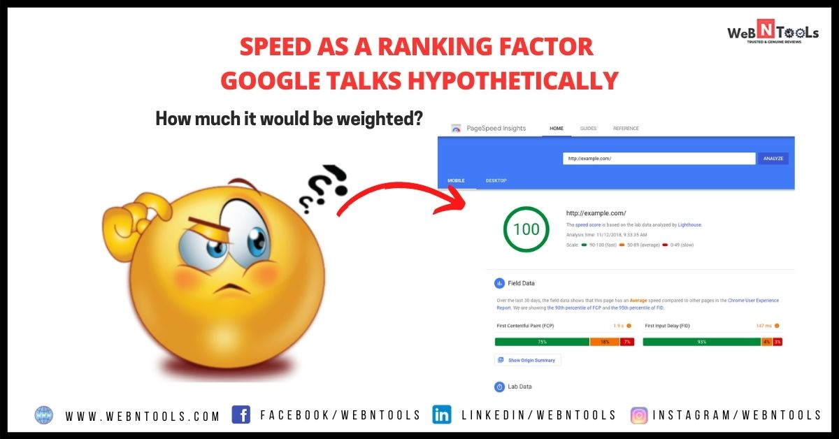Speed As A Ranking Factor - Google Talks Hypothetically - May 2021 Update
