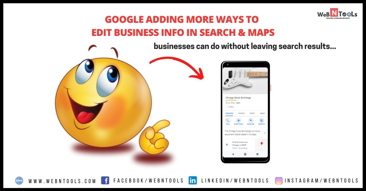 Google Adding More Ways To Edit Business Info in Search & Maps