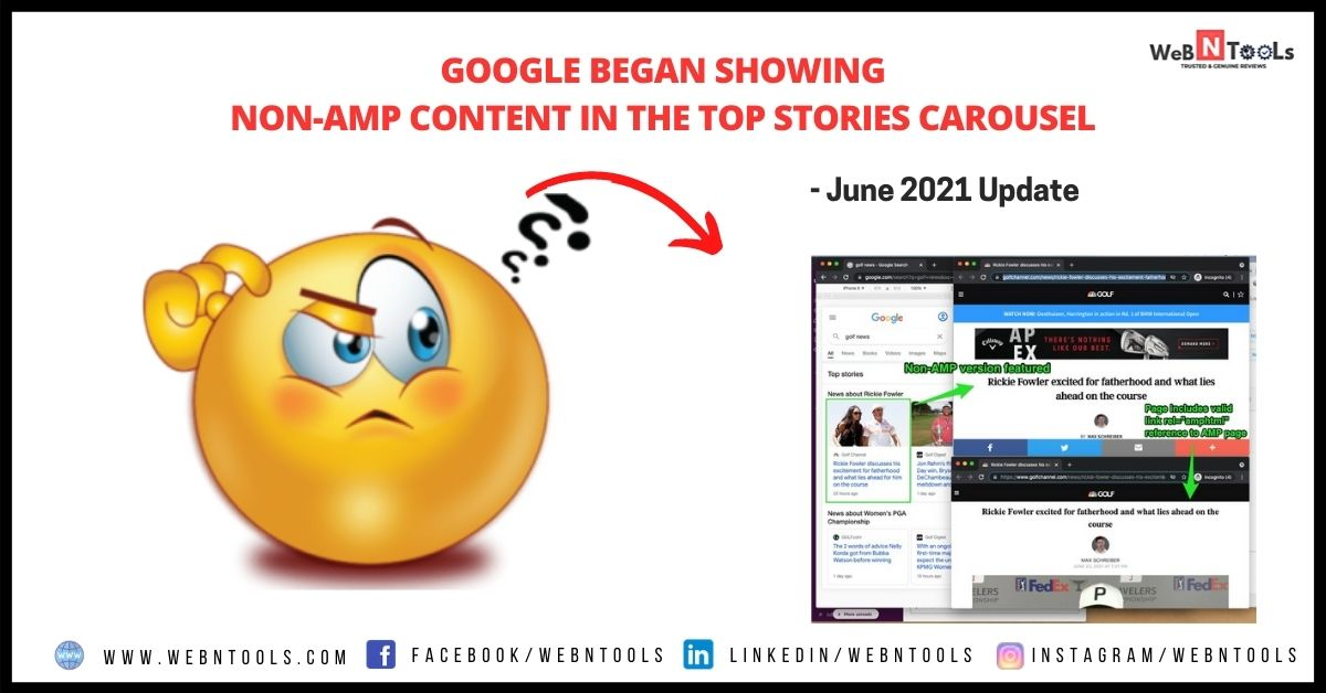 Google Began Showing Non-AMP Content in the Top Stories Carousel - June 2021 Update