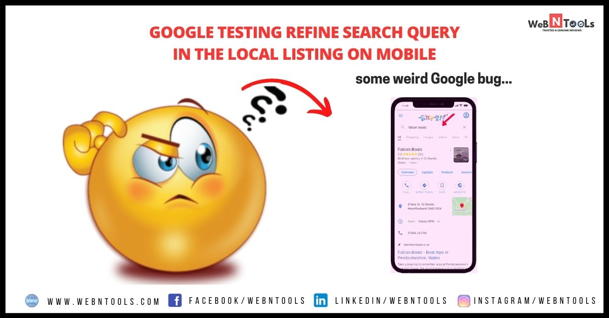 Google Testing Refine Search Query In The Local Listing On Mobile - June 2021 Update