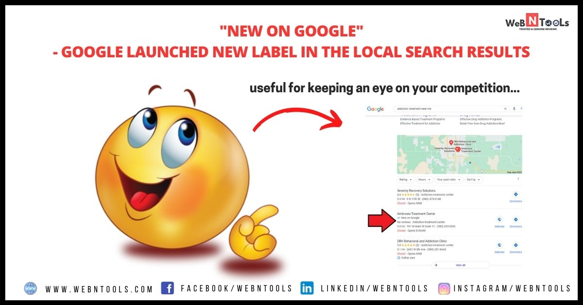 """""""New on Google"""" - Google Launched New label in the Local Search Results"""