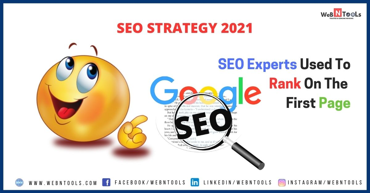 SEO Strategy 2021 - SEO Experts Used To Rank On The First Page