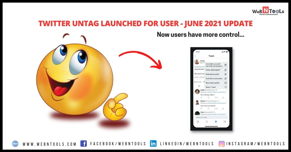 Twitter Untag Launched For User - June 2021 Update
