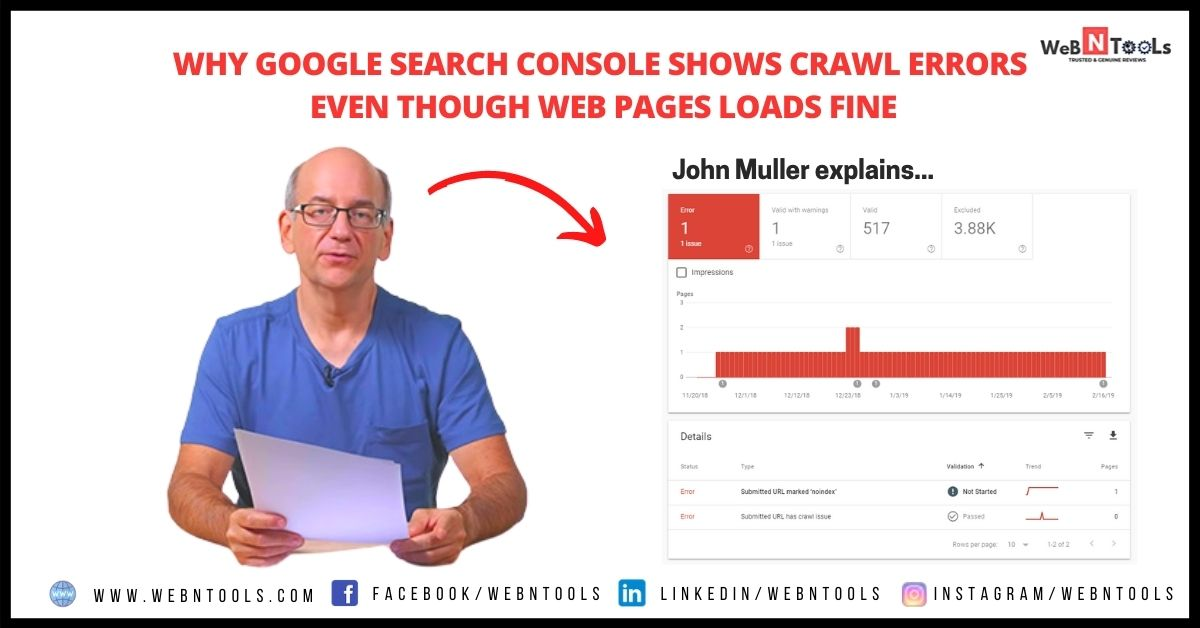 Why Google Search Console Shows Crawl Errors Even Though Web Pages Loads Fine