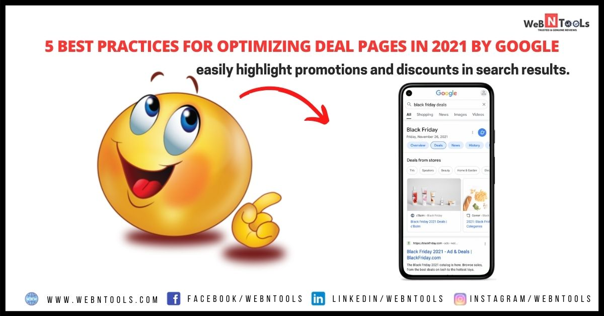 5 Best Practices For Optimizing Deal Pages in 2021 By Google