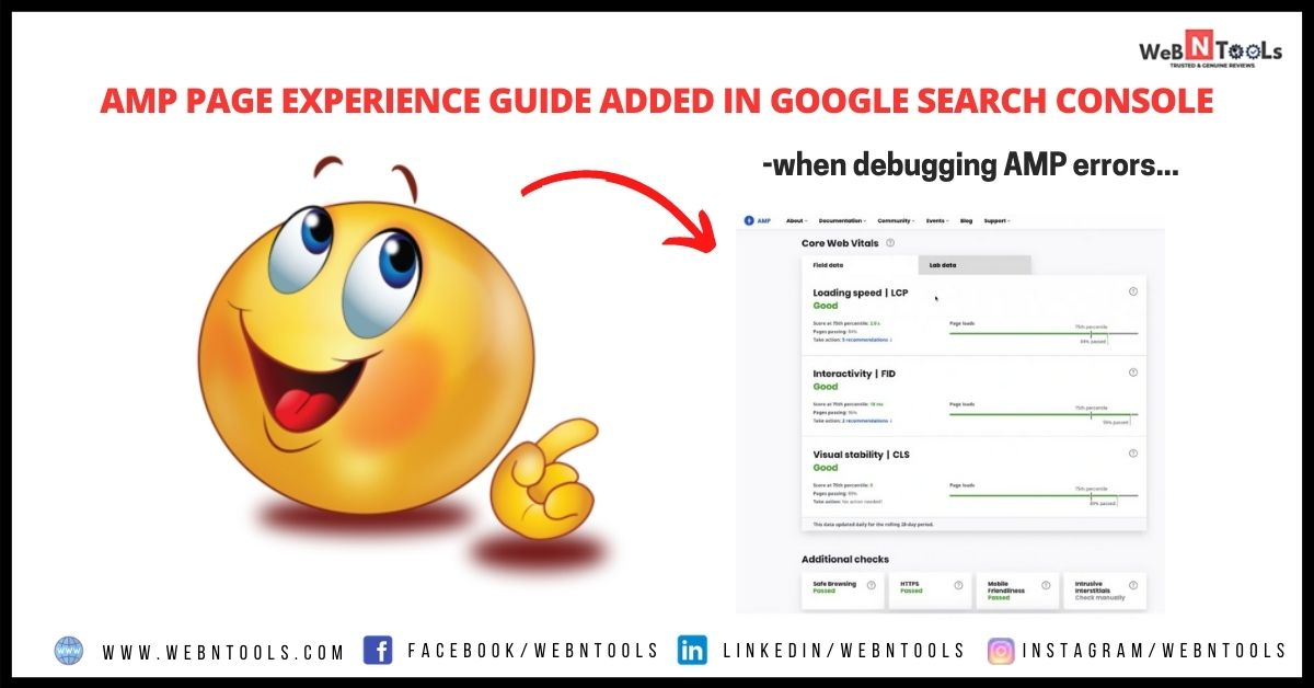AMP Page Experience Guide Added In Google Search Console