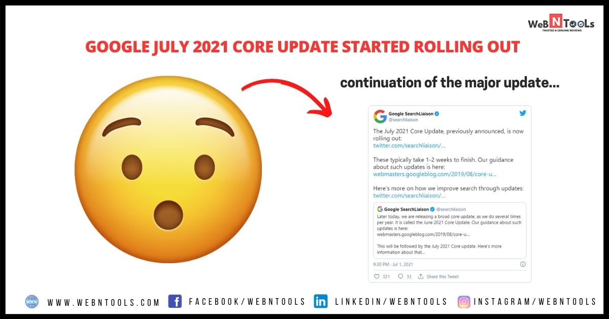 Google July 2021 Core Update Started Rolling Out