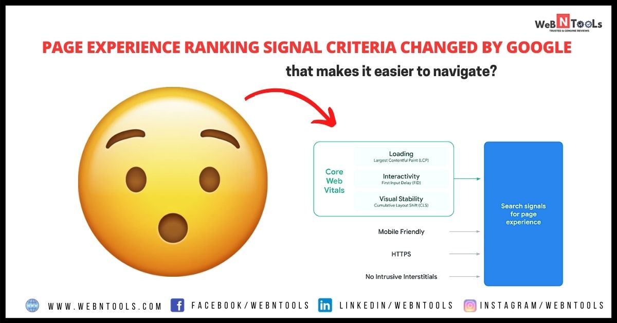 Page Experience Ranking Signal Criteria Changed By Google - Aug 2021 Update